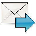 Fwd, mail Black icon