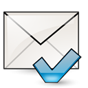 mark, unread, mail WhiteSmoke icon