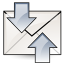 receive, send, mail Linen icon