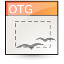 template, Opendocument graphics Linen icon