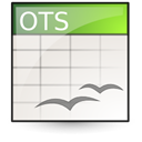 opendocument spreadsheet, template Linen icon