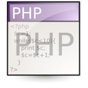 Php, File, document Linen icon