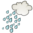showers, weather Black icon