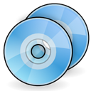 Discs, Cd, Dvd SkyBlue icon