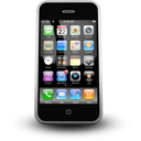 phone, Iphone mobile Black icon