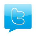 Chat, talk, twitter DeepSkyBlue icon
