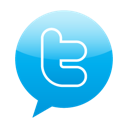 twitter, Bubble speech DeepSkyBlue icon