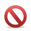 forbidden, Banned Black icon