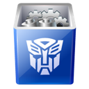 Bin, transformers, recycle, Full, Decepticon Black icon