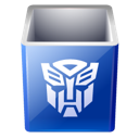Bin, Empty, Decepticon, transformers, recycle Black icon
