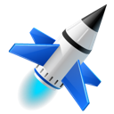 spaceship, Rocket, Launch Black icon