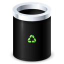 recycle bin, Garbage, Empty Black icon