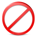 Exit, restricted, stop Black icon