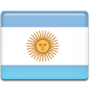Argentina, flag SkyBlue icon