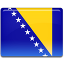 Bosnian, flag DarkBlue icon