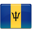 Barbados, flag MidnightBlue icon