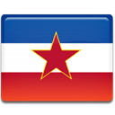 Ex, yugoslavia, flag Crimson icon