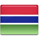 Gambia, flag Crimson icon
