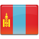 Mongolia, flag Crimson icon