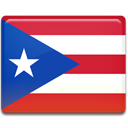 Puerto, flag, rico Crimson icon