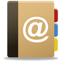 Addressbook, contacts, mail, contact us DarkKhaki icon