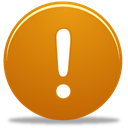 Alert, exclamation Chocolate icon