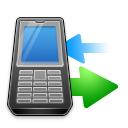transfer, syncronize, phone DodgerBlue icon