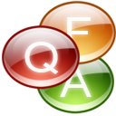 Faq, frequently asked questions SaddleBrown icon