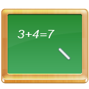 Black board, math, school, calculate, tutorial SeaGreen icon