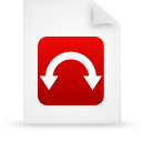 File, red, document, paper WhiteSmoke icon