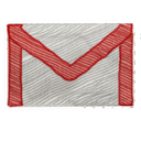 google, gmail Black icon