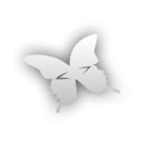 butterfly, Indesign Black icon