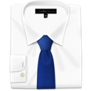 Tie, Blue, Shirt GhostWhite icon