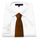White, Shirt, Tie, Brown WhiteSmoke icon