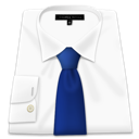 Shirt, Clothes, White, Blue tie WhiteSmoke icon
