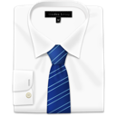 Blue, Tie, stripes, Shirt, with GhostWhite icon