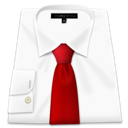 Shirt, red, Tie WhiteSmoke icon