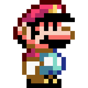 retro, mario Black icon