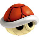 Shell, red Black icon