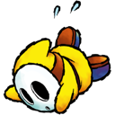 yellow, shyguy Black icon