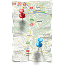 navigation, Gps, Map, location, Directions LightGray icon