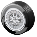 wheel Black icon