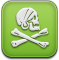 pirat, Installous, skull YellowGreen icon