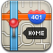 Map, Home, Gps, Directions Silver icon