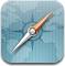 Browser, safari, compass CadetBlue icon