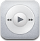 ipod, White, itunes, music, play Gainsboro icon
