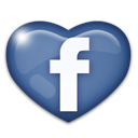 Facebook, love, Heart Black icon