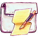 Folder, documents Khaki icon