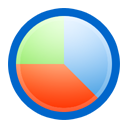 pie, chart RoyalBlue icon