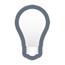 light, bulb, off, lamb Black icon